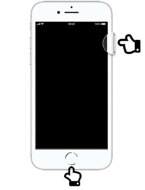Image showing the pressing of the power and home button